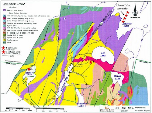 Leo Lake Area Geology